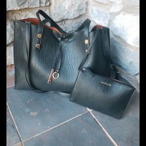 Calvin Klein (2 way crossbody) Tote with Clutch